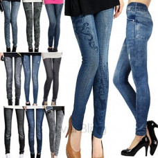 Denim Look Stretchable Leggings