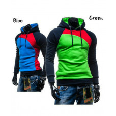 Patchwork Color Hooded Sweater