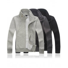 High Collar Zip Jacket for Men