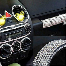 Rhinestone Sticker for Car Interior