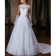 A-Line Silhouette Back Bridal Gown